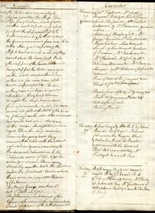 Raven Hardy's entries, 27-29 Nov. 1782