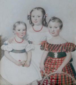 The three eldest Cozens grandchildren