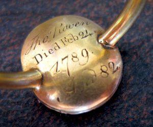 Thomas Raven's commemorative ring of 1789